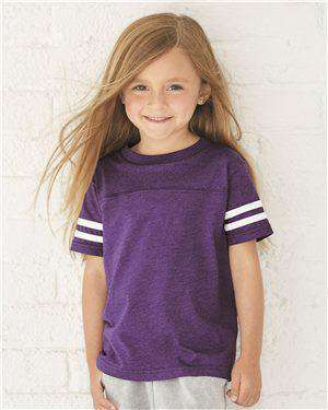 Brand: Rabbit Skins | Style: 3037 | Product: Toddler Football Fine Jersey Tee