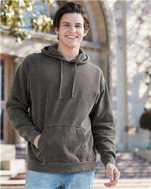 Brand: Comfort Colors | Style: 1567 | Product: Garment Dyed Hooded Pullover Sweatshirt