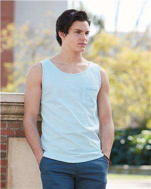 Brand: Comfort Colors | Style: 9330 | Product: Garment Dyed Tank with a Pocket