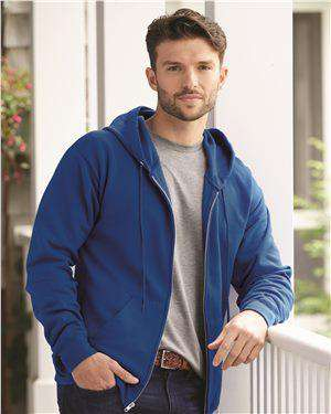 Brand: Hanes | Style: P180 | Product: Ecosmart Full-Zip Hooded Sweatshirt