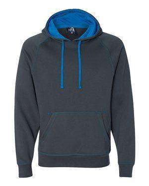J America Men's Contrast Color Lined Hoodie Sweatshirt