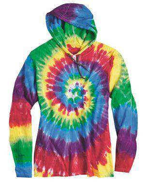 Brand: Dyenomite | Style: 430VR | Product: Tie-Dyed Hooded Pullover T-Shirt