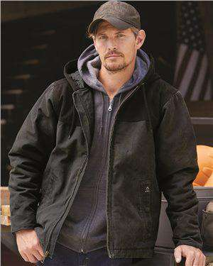 Brand: DRI DUCK | Style: 5058 | Product: Terrain Hooded Boulder Cloth™ Jacket
