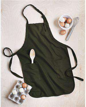 Brand: Q-Tees | Style: Q4350 | Product: Full-Length Apron with Pockets