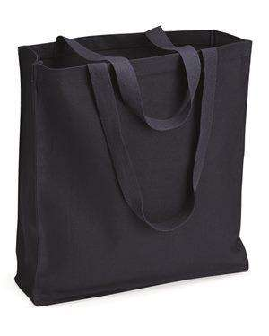 Brand: Q-Tees | Style: Q125300 | Product: 13.7L Gusseted Canvas Shopper