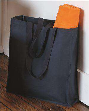 Brand: Q-Tees | Style: Q125400 | Product: 27.3L Gusseted Jumbo Canvas Shopper