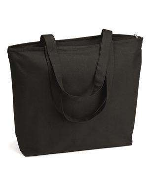 Brand: Q-Tees | Style: Q611 | Product: 24.5L Canvas Zippered Tote