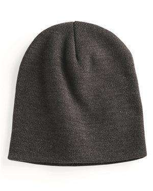 "Brand: Yupoong | Style: 1500KC | Product: 8.5"" Short Beanie"