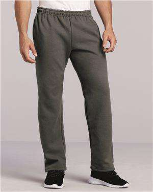 Brand: Gildan | Style: 12300 | Product: DryBlend Open Bottom Pocketed Sweatpants
