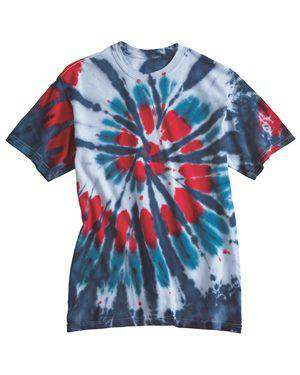 Brand: Dyenomite | Style: 200T2 | Product: Multi-Color Cut-Spiral Short Sleeve T-Shirt