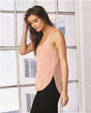 Brand: Bella + Canvas | Style: 8802 | Product: Women's Flowy Tank with Side Slit