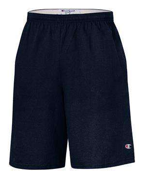 "Brand: Champion | Style: 8180 | Product: 9"" Inseam Cotton Jersey Shorts with Pockets"