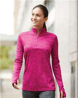 Brand: Badger | Style: 4173 | Product: Tonal Blend Women's Quarter-Zip Pullover