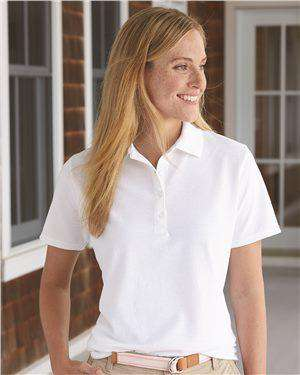 Brand: Hanes | Style: 035P | Product: Women's X-Temp Pique Sport Shirt with Fresh IQ