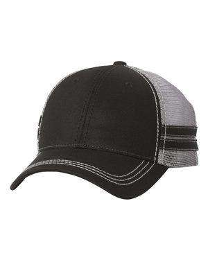 Sportsman Stripes Mid-Profile Trucker Cap - 9600
