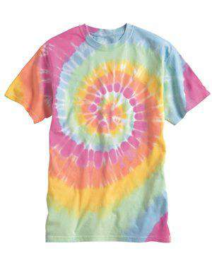 Brand: Dyenomite | Style: 200MS | Product: Multi-Color Spiral Short Sleeve T-Shirt