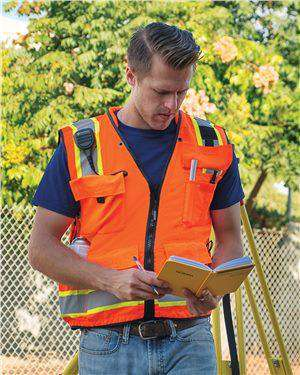 Brand: ML Kishigo | Style: S5000-01 | Product: Professional Surveyors Vest
