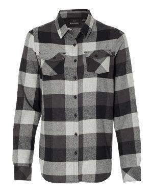 Burnside Women's Long Sleeve Plaid Flannel Shirt