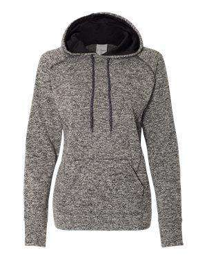 J America Women's Fleck Fleece Hoodie Sweatshirt