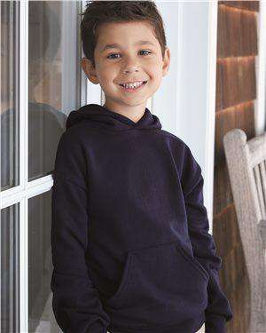 Brand: Hanes | Style: P473 | Product: Ecosmart Youth Hooded Sweatshirt