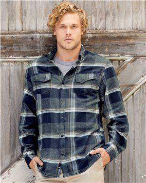 Brand: Burnside | Style: 8219 | Product: Snap Front Long Sleeve Plaid Flannel Shirt