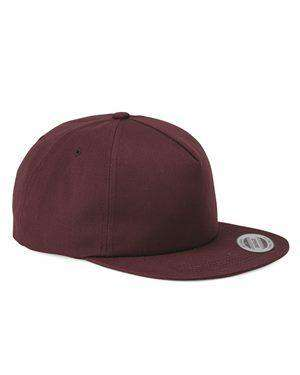 Brand: Yupoong | Style: 6502 | Product: Unstructured Five-Panel Snapback Cap