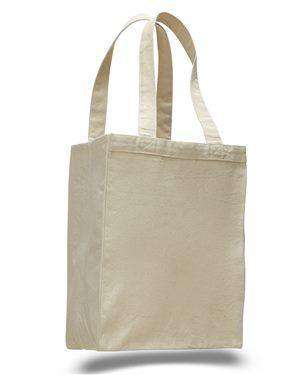 Brand: Q-Tees | Style: Q1000 | Product: 12L Canvas Gusset Shopping Tote