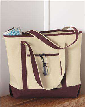 Brand: Q-Tees | Style: Q1500 | Product: 34.6L Large Canvas Deluxe Tote