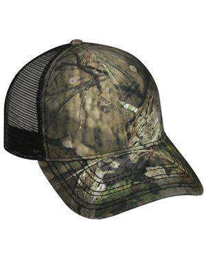 Brand: Outdoor Cap | Style: OSC100M | Product: Oil Stained Camo Trucker Cap