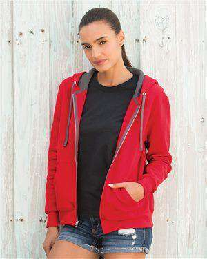 Brand: Fruit of the Loom | Style: LSF73R | Product: Women's Sofspun® Full-Zip Hooded Sweatshirt