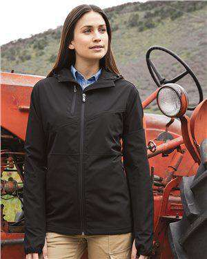 Brand: DRI DUCK | Style: 9411 | Product: Women's Ascent Hooded Soft Shell Jacket