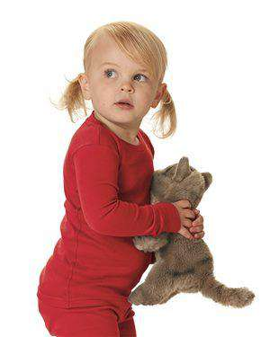 Brand: Rabbit Skins | Style: 201Z | Product: Toddler Baby Rib Long Sleeve Pajama Top