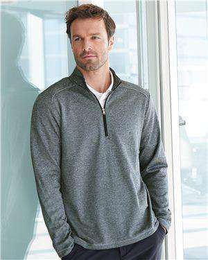 Brand: Adidas | Style: A284 | Product: Brushed Terry Heather Quarter-Zip