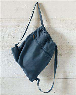 Brand: Liberty Bags | Style: 8877 | Product: Pigment Dyed Premium 12 Ounce Canvas Drawstring Bag
