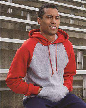 Brand: Russell Athletic | Style: 693HBM | Product: Dri Power® Colorblock Raglan Hooded Sweatshirt