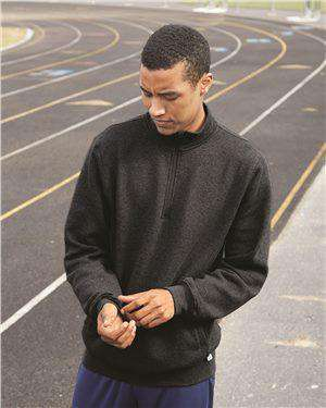 Brand: Russell Athletic | Style: 1Z4HBM | Product: Dri Power® Quarter-Zip Cadet Collar Sweatshirt