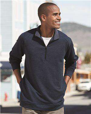 Brand: J. America | Style: 8434 | Product: Omega Stretch Terry Quarter-Zip Pullover