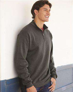 Brand: Fruit of the Loom | Style: SF95R | Product: Sofspun® Quarter-Zip Sweatshirt