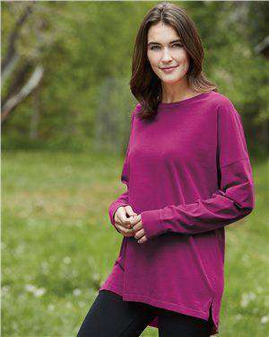 Brand: Comfort Colors | Style: 6054 | Product: Ringspun Cotton Drop Shoulder Long Sleeve Tee