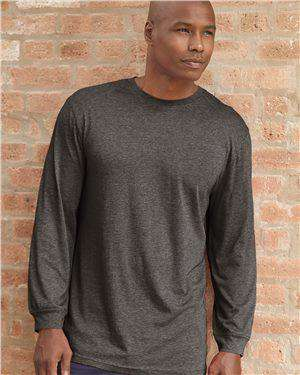 Brand: Badger | Style: 4944 | Product: Triblend Performance Long Sleeve T-Shirt