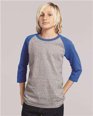 Brand: Gildan | Style: 5700B | Product: Heavy Cotton Youth Raglan Tee