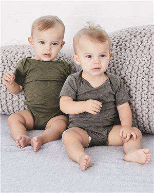 Brand: Bella + Canvas | Style: 134B | Product: Baby Triblend Short Sleeve Onesie