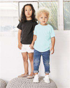 Brand: Bella + Canvas | Style: 3413T | Product: Toddler Triblend Short Sleeve Tee