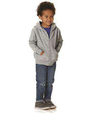 Brand: Rabbit Skins | Style: 3346 | Product: Toddler Full-Zip Fleece Hooded Sweatshirt