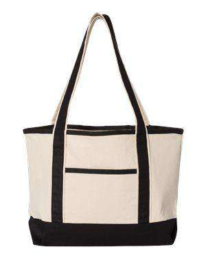 Q-Tees Small Canvas Shopping Bag - Q125800