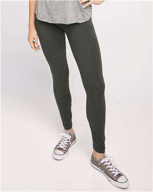 Brand: American Apparel | Style: 8328W | Product: Women's Spandex Jersey Leggings