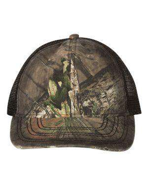 Outdoor Cap Oil Stained Trucker Camouflage Cap - OSC100M