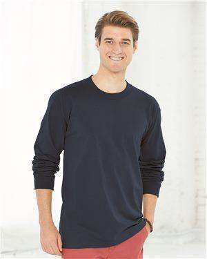 Brand: Bayside | Style: 6100 | Product: USA-Made Long Sleeve T-Shirt