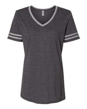 Jerzees Women's Varsity Tri-Blend V-Neck T-Shirt