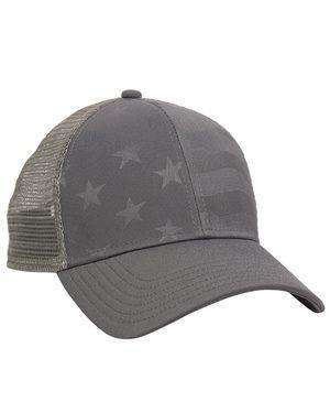 Brand: Outdoor Cap | Style: USA750M | Product: Debossed Stars and Stripes with Mesh Back